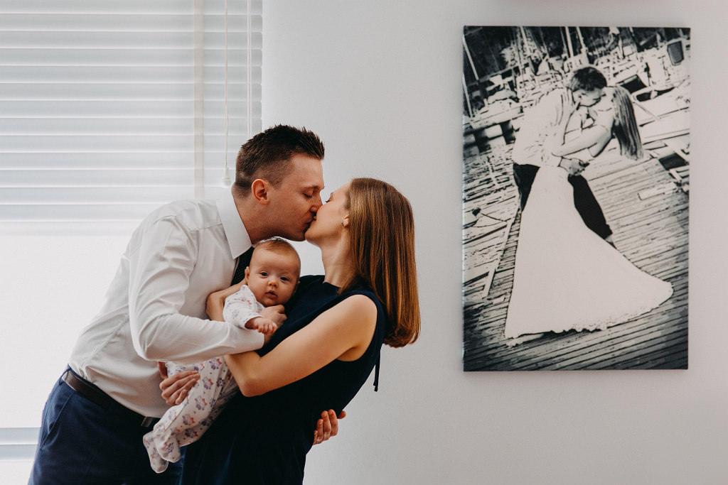 Rodzice Natalii, jako Para Młoda i teraz, ze swoim dzieckiem
