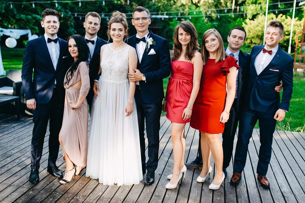 Kamila & Wojtek | Pomiechówek Zacisze Anna Korcz | Zdjęcia ślubne | Ślub plenerowy 83